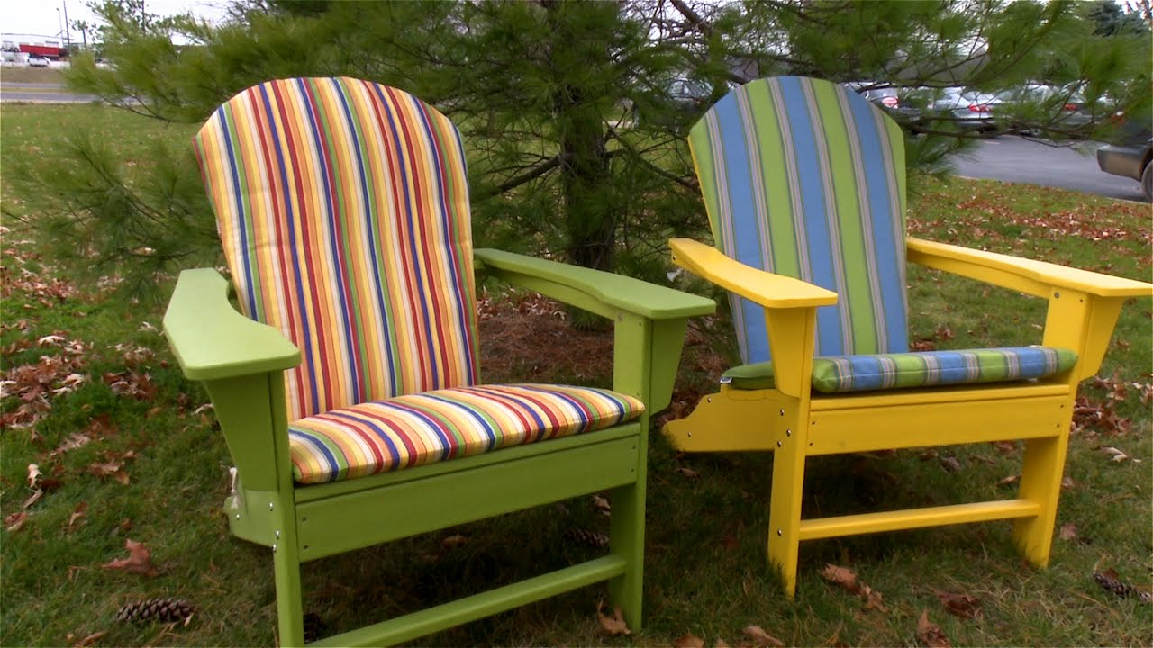 How to make an adirondack chair cushion youtube - Patterns for adirondack chairs ...