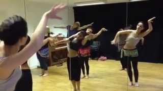 TRIBAL FUSION BELLY DANCE CLASS ROUTINE