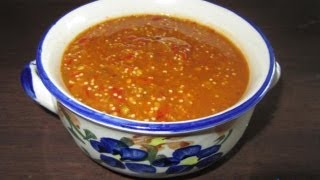 "Salsa ""Tomatillo y chile de Arbol"" * video 125*"