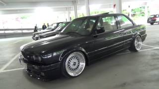BMW 3Series E30 Coupe Black Shadowline BBS Wheels @ Turboday 3.0