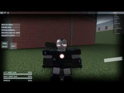 Roblox Iron Man How To Get War Machine Roblox Iron Man Simulator War Machine Suit Youtube