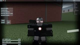Roblox Iron Man Simulator war machine suit
