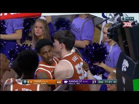 Texas Vs. Kansas State Men's Basketball Highlights