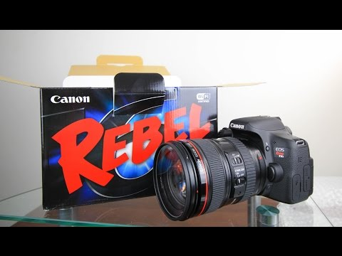 Canon Rebel T6i (750D) Unboxing & First Look