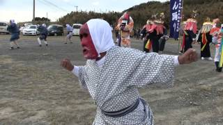 種子島の郷土芸能:めん踊り(西之表市住吉深川)深川神社での奉納踊り