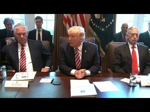 President Trump's first full cabinet meeting - YouTube