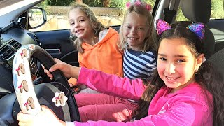 We are in the car - The Weels on the Bus song | Nursery Rhymes by AVIGAIL