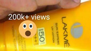 Lakme sunscreen | sun expert | fairness uv lotion SPF 50 +++