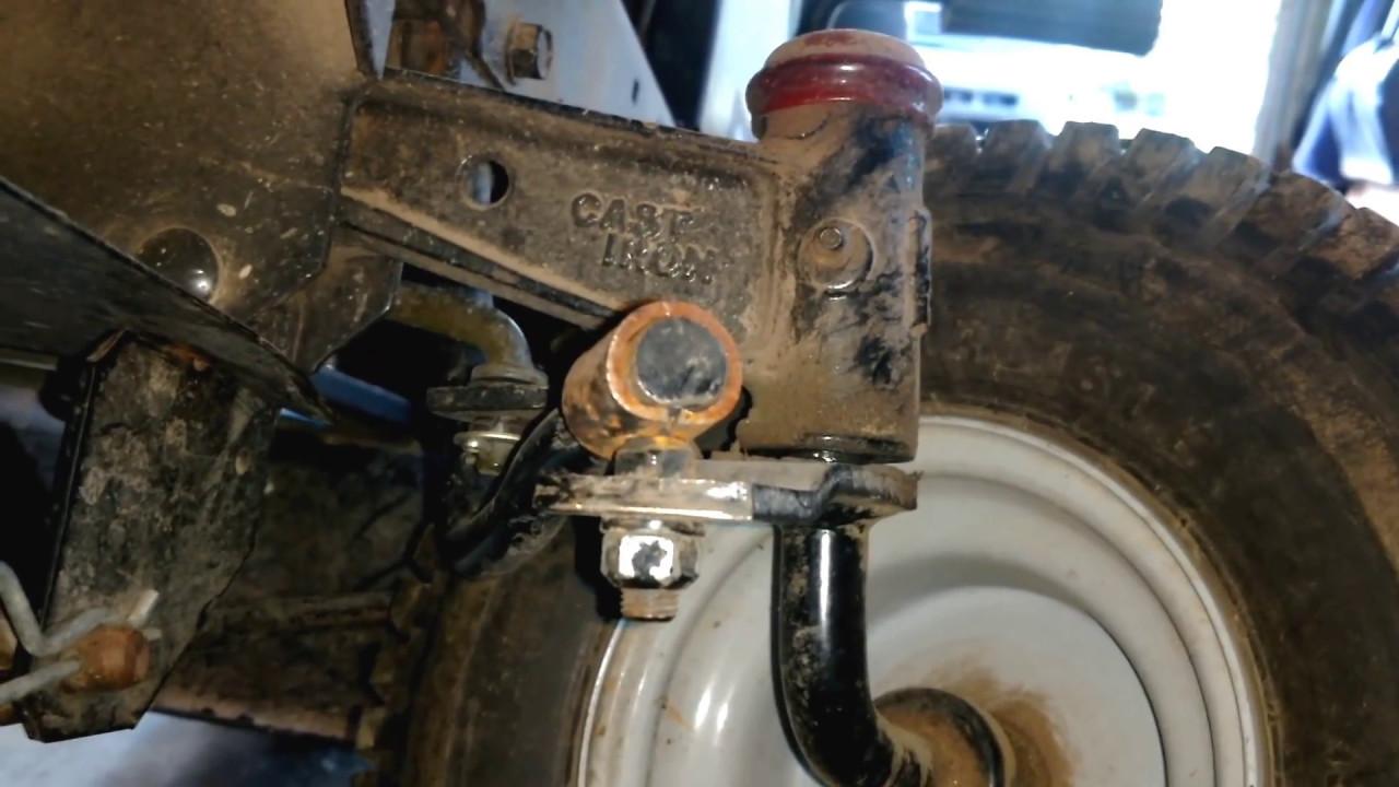 Craftsman Tractor Drag Link Fix  No weld method  YouTube