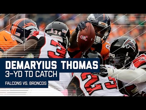 Demaryius Thomas Makes the Quick Catch & Reaches Out for a TD! | Falcons vs. Broncos | NFL