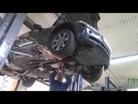 Удаление катализаторов на BMW E46 .Удаление катализаторов на BMW E46  в СПБ .
