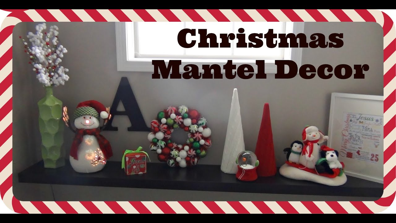 christmas mantel decor 2014 hobby lobby hallmark cvs garden ridge youtube