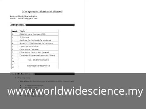 MBA-Management Information System Class No.1