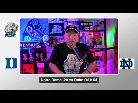 Notre Dame vs Duke 9/12/20 Free College Football Pick and Prediction CFB Tips
