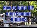 How to build a mini Camper trailer P1