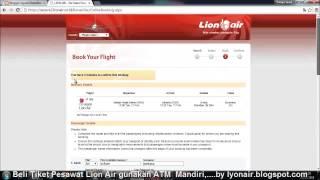 Cara beli tiket pesawat Lion Air pakai ATM Bank Mandiri