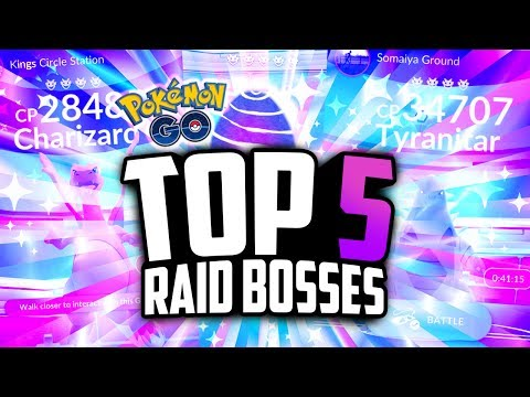 Pokemon Go - TOP 5 BEST RAID BOSSES! (SHINY Pokemon Go Raids!)