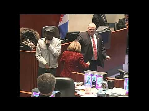 Mayor Ford & councillors dance at city hall Travel Video