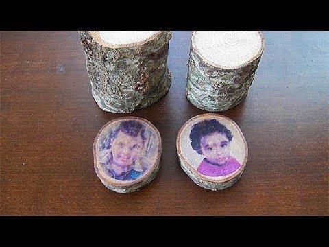 Ağaç Kütüğüne Resim Kopyalama Tekniği - DIY. Transfer Your Photo to Wood