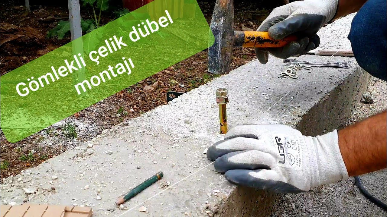 Gömlekli Çelik Beton Dübeli Nasıl Monte edilir