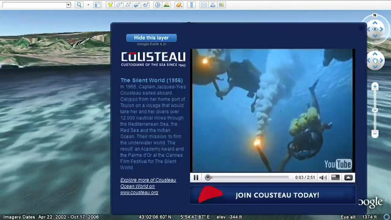 Explore The Ocean In Google Earth YouTube - Google ocean