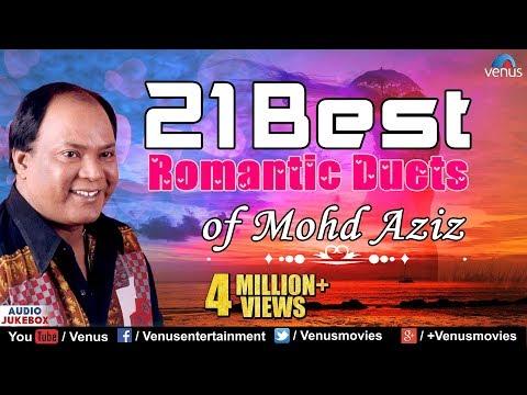 Best Of Mohd Aziz | Top 21 Best Romantic Duets | Evergreen Love Songs - Audio Jukebox