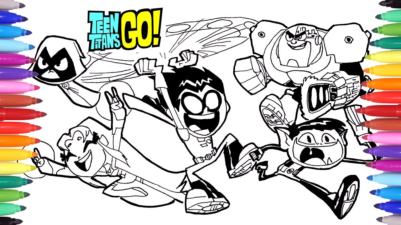 teen titan coloring pages # 2