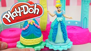 Sparkle Compound Disney Princess Dresses for Ariel and Cinderella and Rapunzel Play Doh Hair