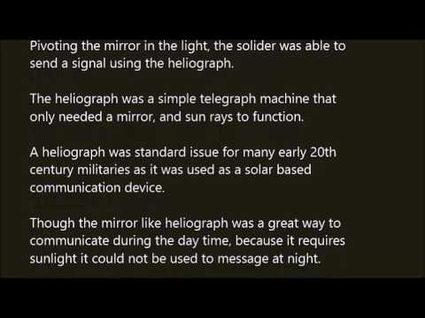 Heliograph word in sentence with pronunciation