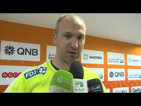 Mondial 2015 de handball au Qatar  - Coulisses du match ALGERIE-FRANCE  avec SAID LACETE