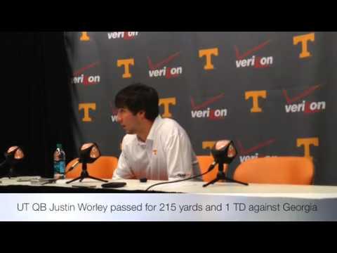 Tennessee QB Justin Worley talks about Georiga loss