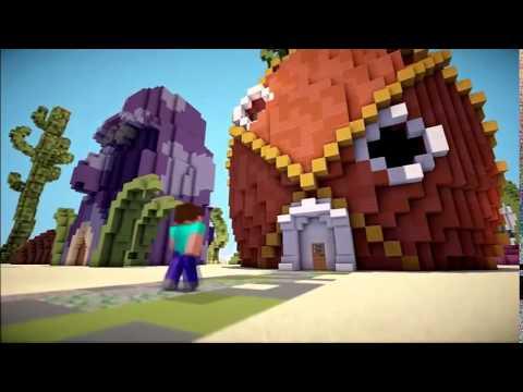 Если-бы херобрин встретил спанч боба|Minecraft Machinima|#1