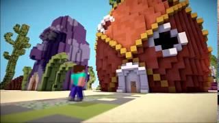 Если бы херобрин встретил спанч боба | Minecraft Machinima |#1