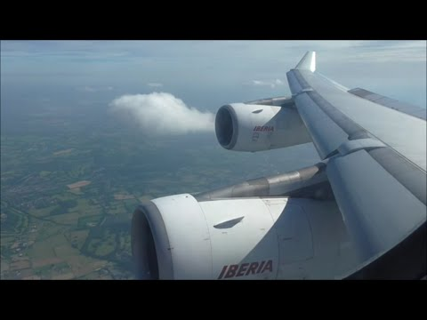 Iberia Airbus A340-313 | Madrid to London Heathrow *Full Flight*
