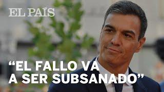 PEDRO SÁNCHEZ confirma el fallo en su libro y asegura que