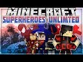 Minecraft: Mod Showcase - Superheroes Unlimited [SUPERHEROES AND ALL POWER]