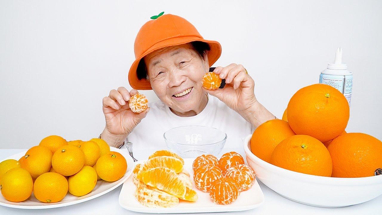 영원씨의 오렌지, 귤 먹방 オレンジ,みかん 食う orange, tangerine mukbang ASMR