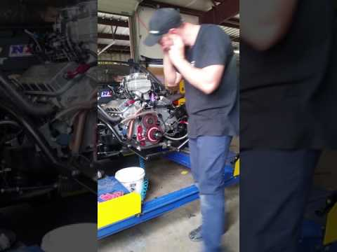 Kamikaze Chris starting the new ELCO engine.