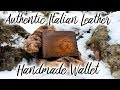 Making a handmade Italian Leather Wallet - CuoioVivo