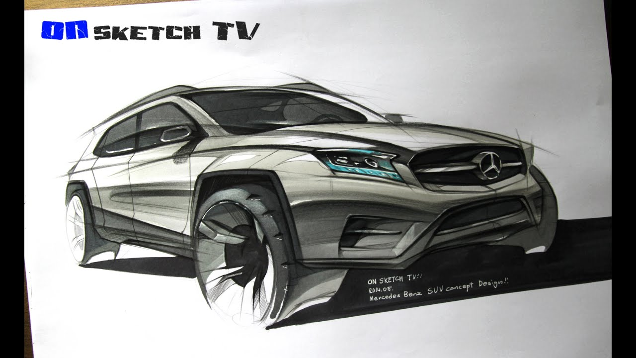 ???? Tv Car Sketch Mercedes Benz Suv Concept Sketch Color