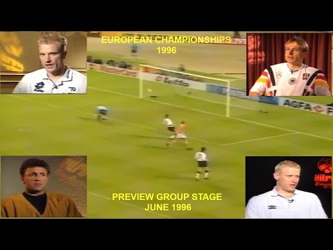EUROPEAN FOOTBALL CHAMPIONSHIP 1996 - ENGLAND - PREVIEW GROUPS A,B,C,D