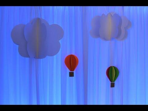 3D Paper Cluds DIY PLUS Backdrop SetUp