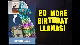 Fortnite: Smashing Open Another 20 Birthday Llamas in Save the World!