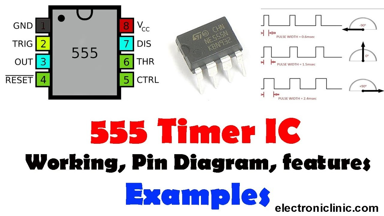 555 Timer IC Monostable Electronics Experiment Project PCB and Components