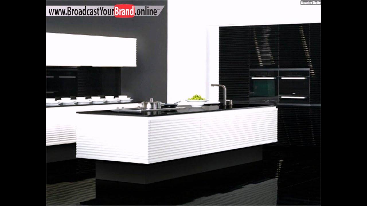 Wirkungsvolle kontraste schwarz weiße moderne küchen   youtube