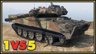 XM551 Sheridan - 10 Kills - 1 VS 5 - World of Tanks Gameplay