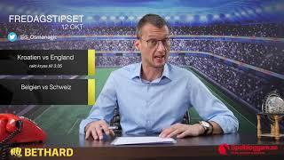Speltips: Kroatien - England & Belgien - Schweiz 12/10