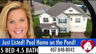 New Listing | Winter Garden, FL | Grandview Plan | Hickory Hammock | Pool Home on a Pond!
