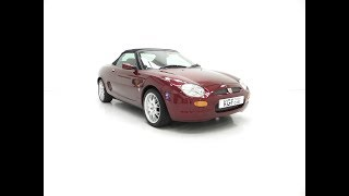 A Limited Edition Individually Numbered MGF 75th Anniversary with 12,695 Miles - £7,995