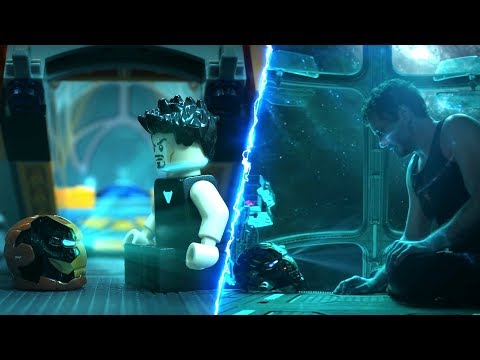 Avengers Endgame Trailer in Lego Side by Side Comparison